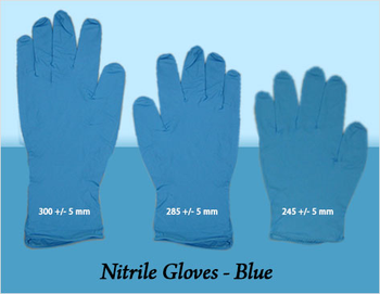 blue nitrile disposable gloves