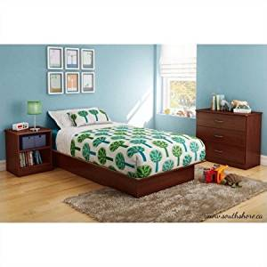 Get Quotations 3 Piece Kids Bedroom Set In Royal Cherry Color With Modern And Clear Design