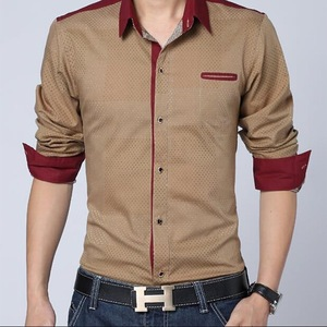 Formal wholesale shirt for men casual style 100% cotton shirt