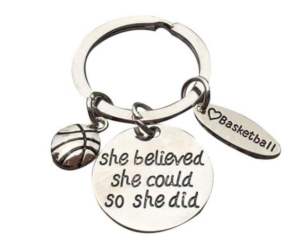 9918304047f3 Get Quotations · Basketball Keychain- Basketball Gift- Basketball Jewelry  For Girls