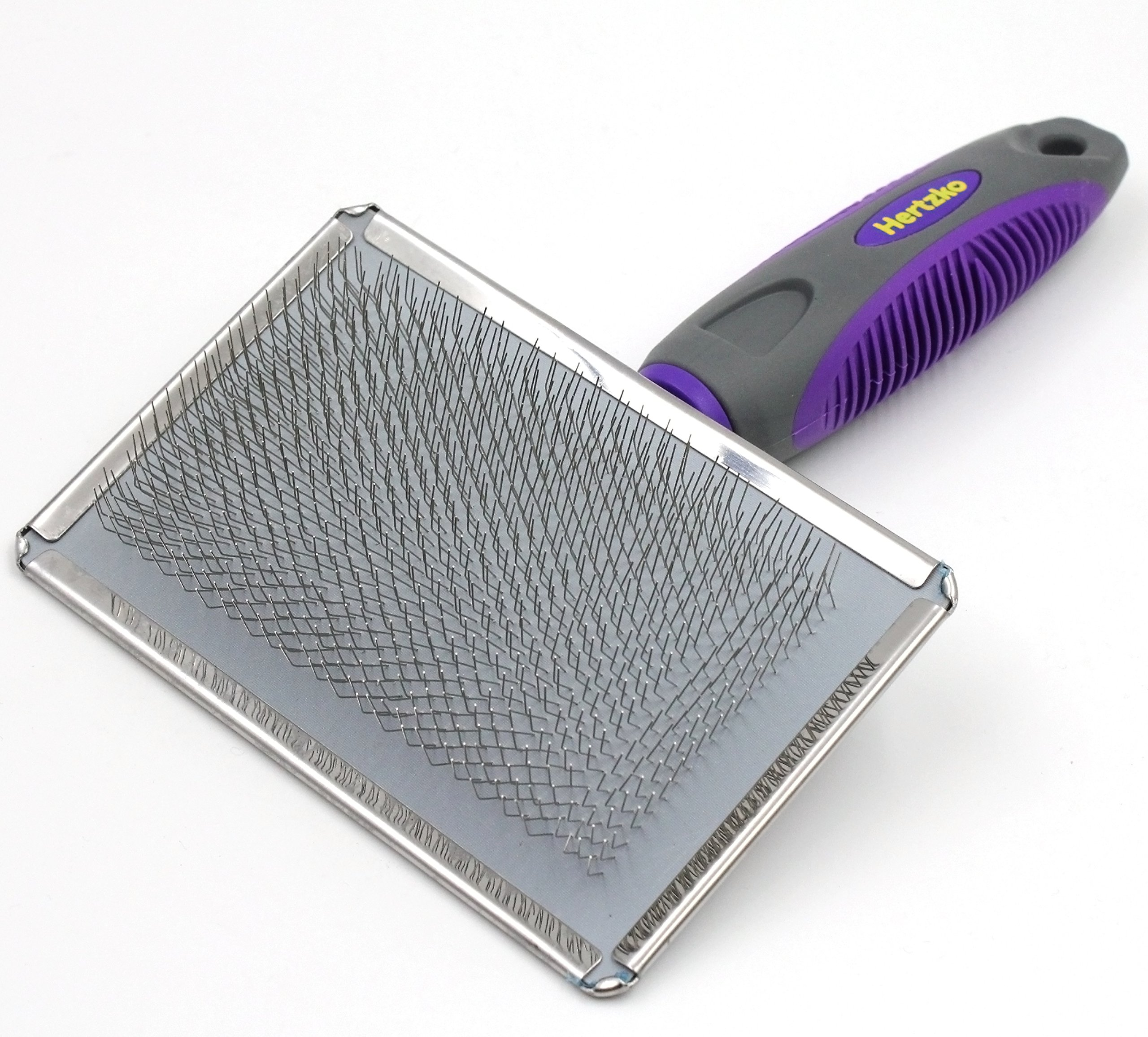 Buy Slicker Brush for Dogs and Cats by Hertzko - Pet Grooming ...