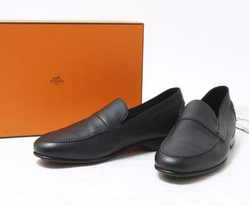 9d9cf941eea Used branded HERMES black Loafer Shoes for sale in bulk. Other brands  available too.