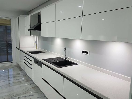 Best Sale White Glossy Handleless Kitchen Cabinet Buy Best Sale