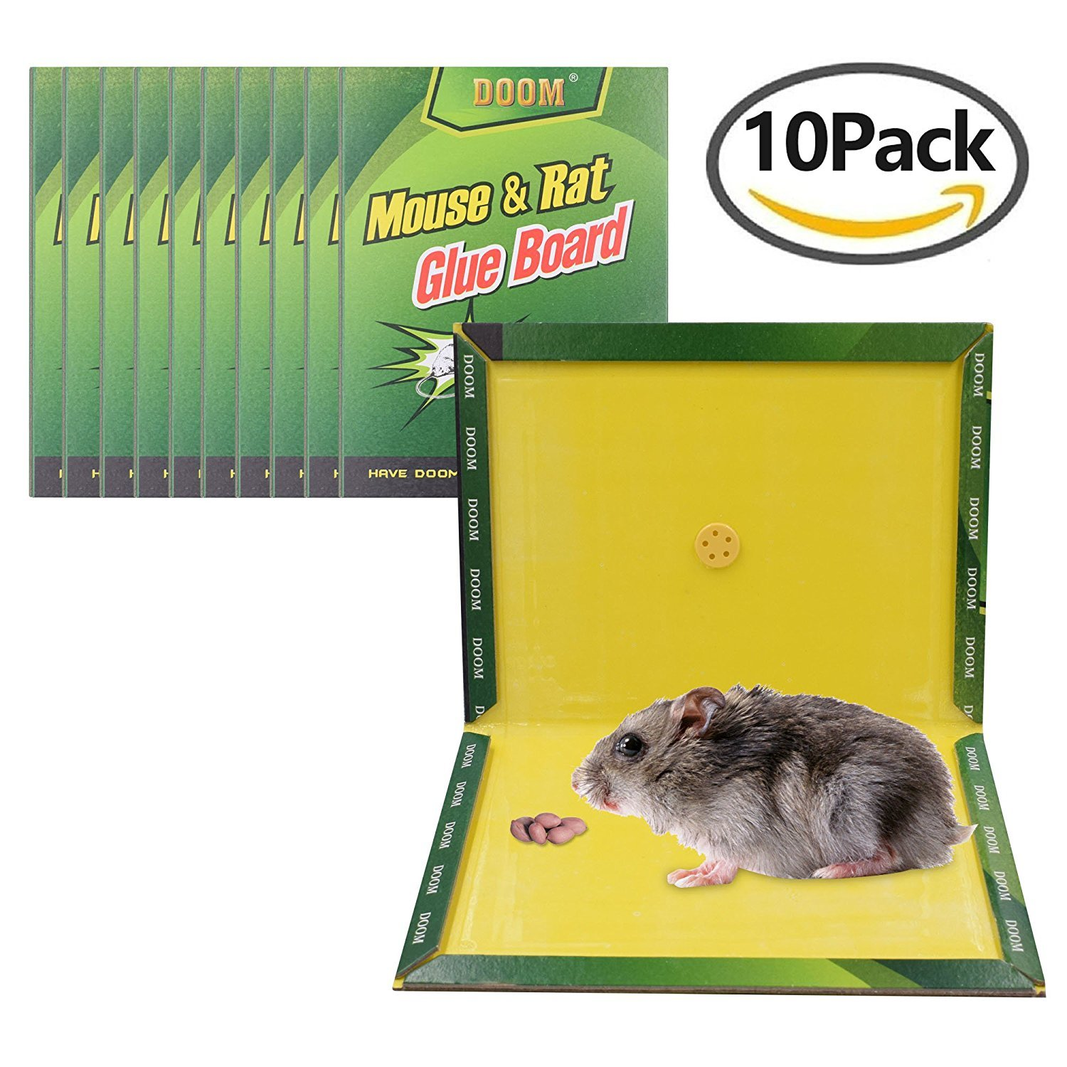 Mouse Trap,Mouse Rat Glue Boards,(10-Pack) Mouse Glue Traps,Mouse Size Glue Traps Sticky Boards Mouse Catcher Mice Professional Strength Glue Insect Lizard Spider Cockroach Rodent Snake Strongly