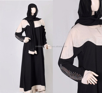 2018 wholesale Dubai abaya kaftan with crystal ,Islamic women clothing