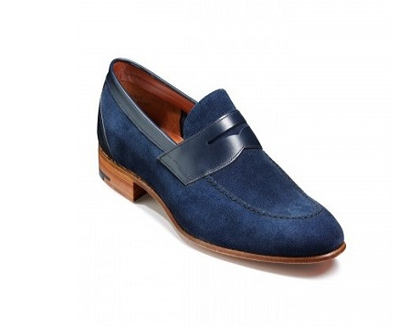 Shoes Suede Moccasins Blue Leather Men naIfn