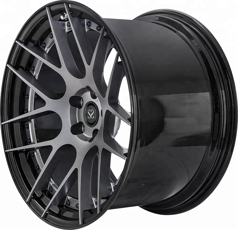 Black Painting Forged Aluminum 6060 T6 5 Hole Wheel Rim