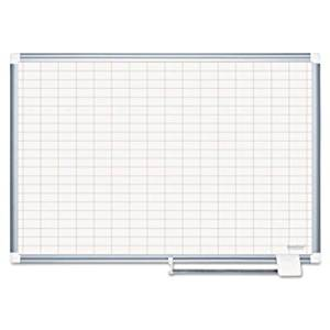 Bi-silque Grid Platinum Pure White Planning Board CR0830830 by Bi-silque