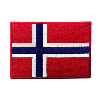 Country Flag Embroidered Patch,Norway Flag Iron On Patches,Custom  Embroidered Norwegian Applique - Buy Country Flag Patch,Custom  Patches,Norway Flag