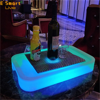 led bar wine tray luminous bucket cooler box led ice bucket