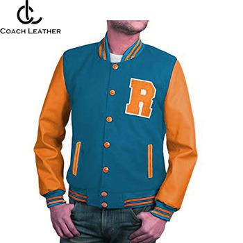 2018 Pakistan Leather Sleeves Varsity Jacket Custom Men Leather