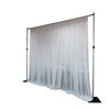 Elegant event wedding aluminum backdrop stand pipe drape pipe and drape kits used pipe and drape for sale