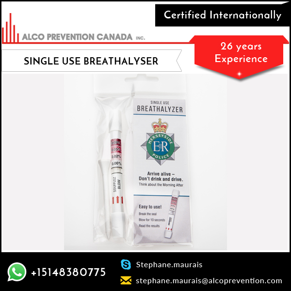 Alco grad Breathalyzer Tester for Breath Alcohol Measurement Test