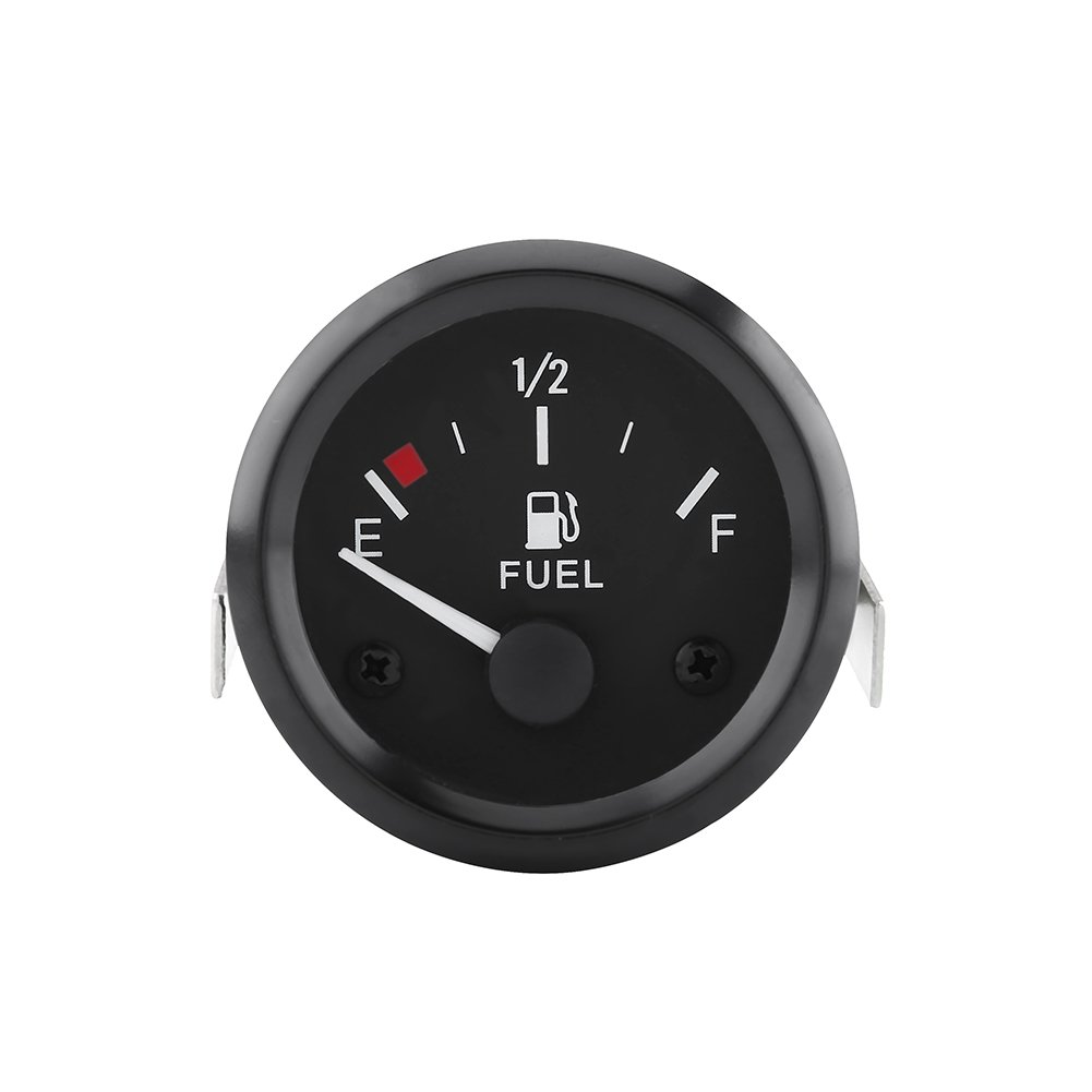 RUPSE 2 52mm Universal Car SUV Fuel Level Gauge Meter w//Fuel Sensor E-1//2-F Pointer 12V