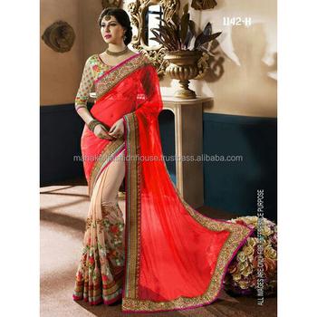 Surat Manufactured Wedding Wear Saree Wholesale Buy Indian Wedding