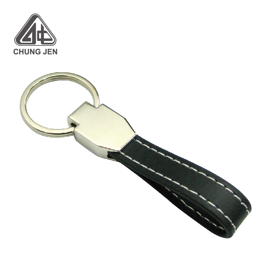 High-Quality Key Chain Leather Key Ring with Brand Logo