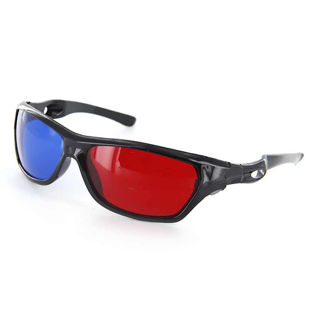 Simple Style 1 Pair Plastics Red/Blue 3D Glasses Anaglyph Glasses for Movies