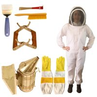 100% Cotton Bee Keeping Coverall Hooded Bee Protection Suit Beekeeping Protective Clothing