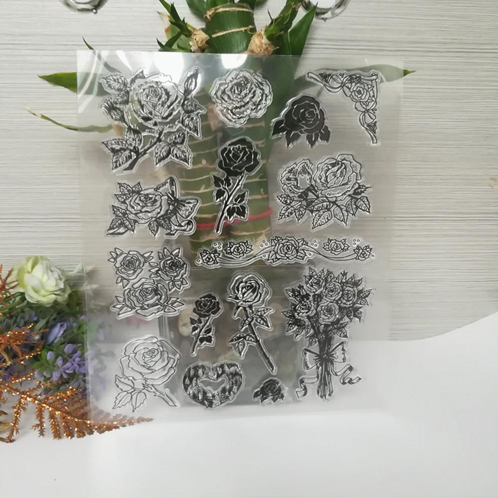 Dibujos animados para scrapbooking/DIY álbum de boda transparente ...