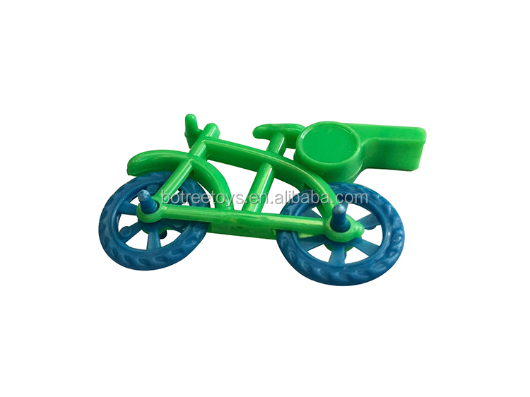 Bicycle Shaped Whistle Plastic Promotional Toys for 55mm Capsule