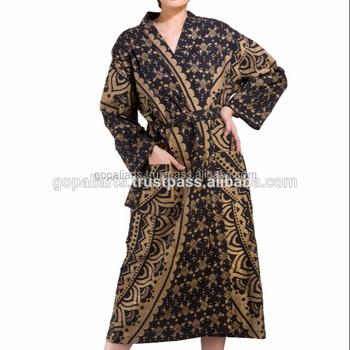 Ladies Floral 100% Cotton Summer Gown Beach Wear Bikini Cover Up ...