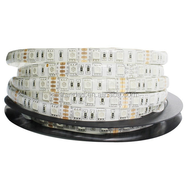 Waterproof RGB LED Strip 5050 multi color changing flexible String Ribbon Tape 44Keys controller 12V Power Adapter Supply