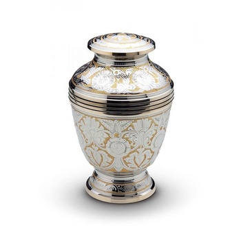 Decorated brass Cremation Urn