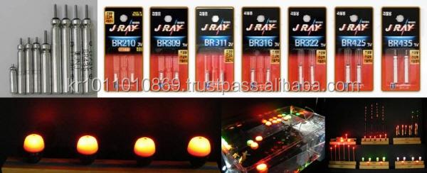 LED di tipo Pin batteria al litio R327, R435 per LED freccia cocca