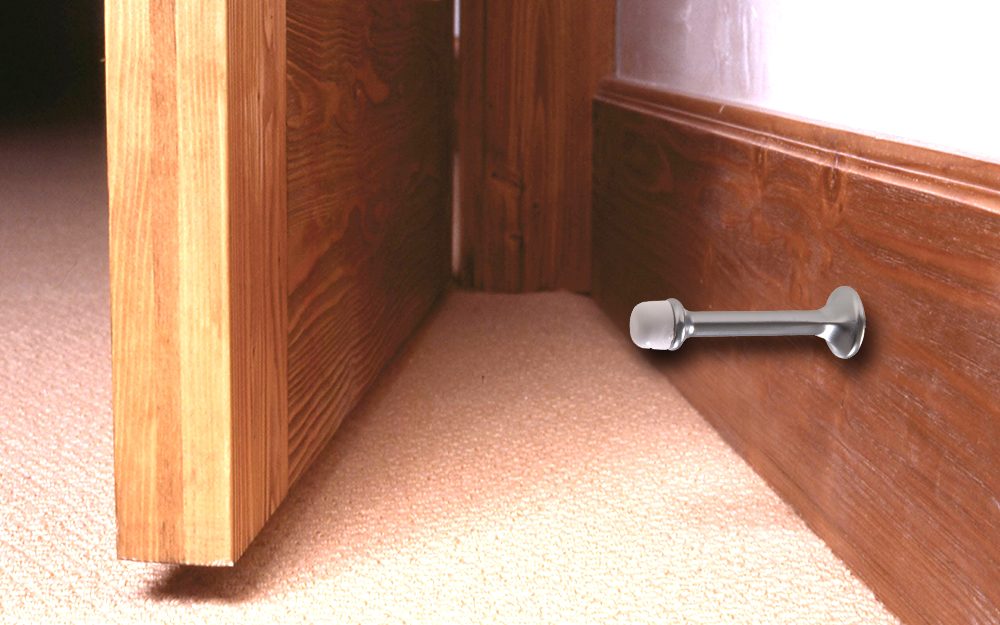 Door Stop Amazon Heavy Duty Solid Door Stop Oil Rubbed Bronze with  Rubber Tip