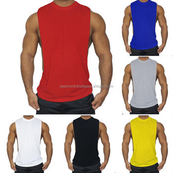 e930ebcaad79c1 Men Stringer Bodybuilding Tank Top Shirts Muscle Sleeveless T-Shirt Vest  Singlet
