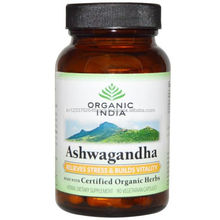 Organic India Ashwagandha 60 Vegetarian Capsules 100% Pure herbal product