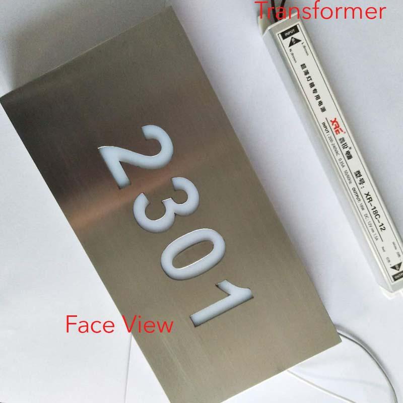8ae5fba4bcb Waterproof Custom Led Lighted House Number Signs Door Number - Buy ...