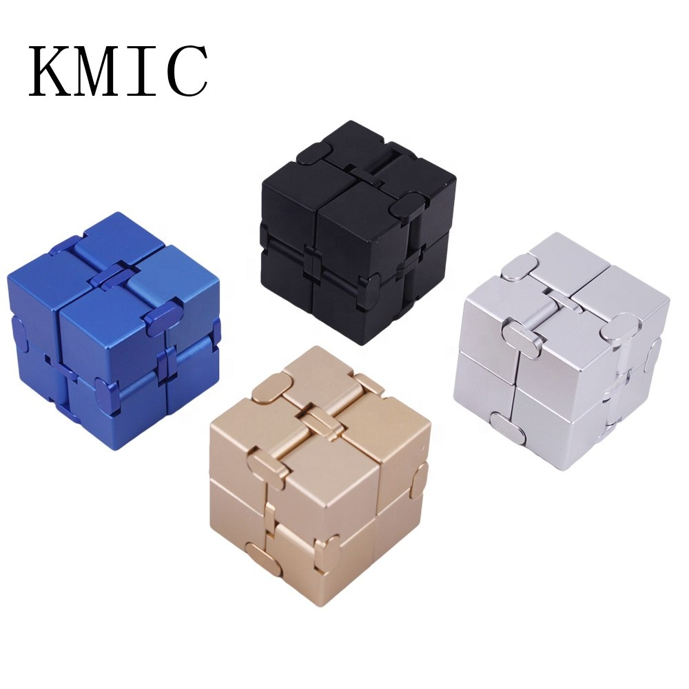 2018 Hot Sale Folding Fidget Cube New Version 8 Blocks Fidget Finger <strong>Toys</strong> for Stress and Anxiety relief