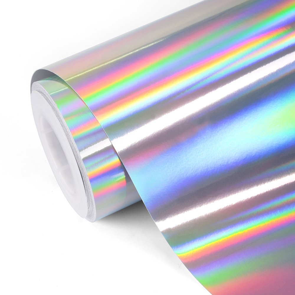 Inkjet Printable Metallic Glossy Pearlescent Holographic Effect Adhesive Film 100 Micron A4 10 Sheets