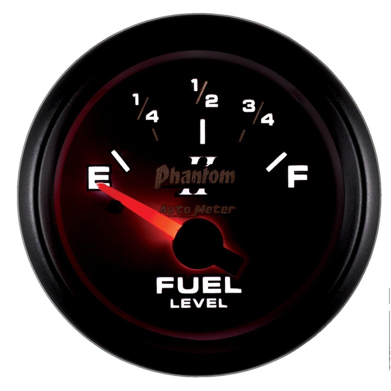 "Auto Meter 7513 Phantom II 2-1/16"" 0-90 ohms Short Sweep Electric Fuel Level Gauge for GM"