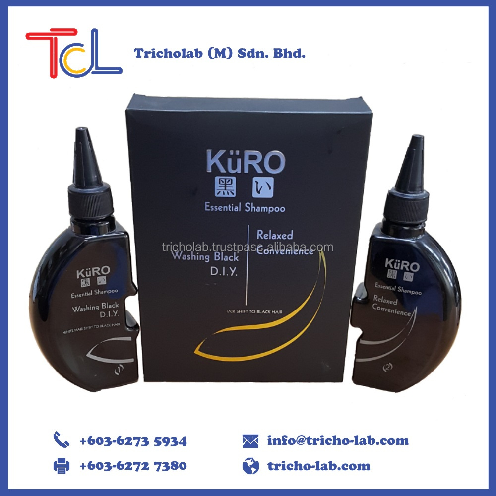 Hot Sale Kuro Black Hair Care Shampoo Product (2 in 1) made in Malaysia