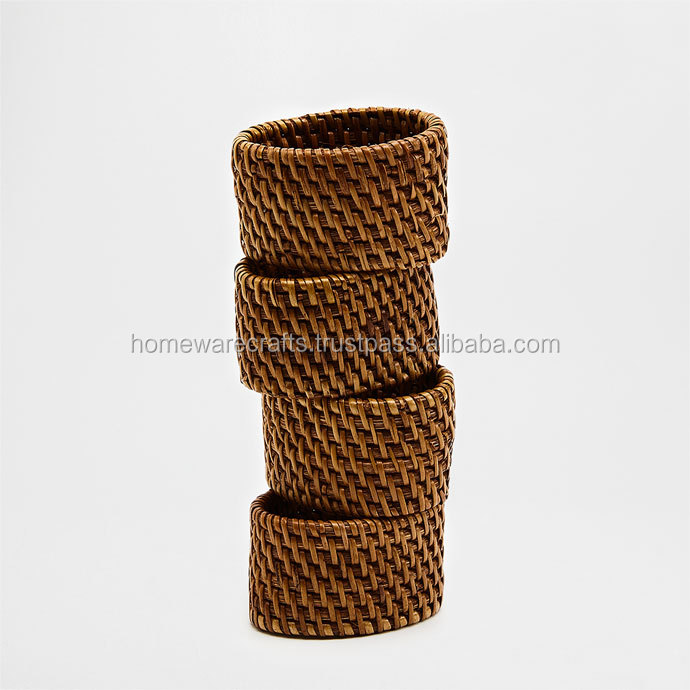 Rattan decorativo Anello di Tovagliolo 100% Naturale/napkin holder wedding made in VietNam