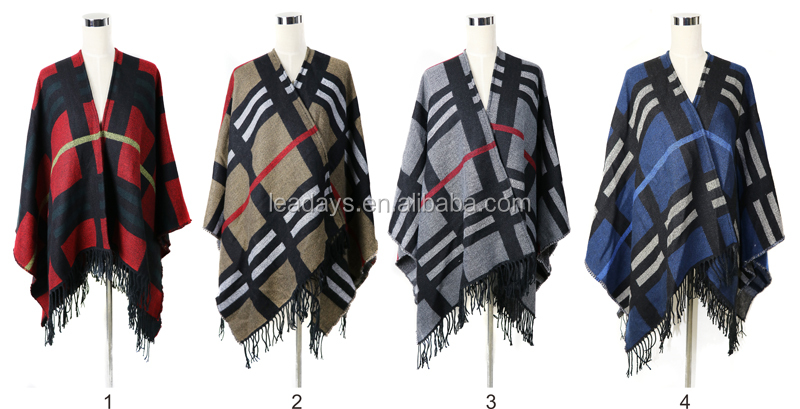 New Styles Mexican Cashmere Winter Poncho Sweater Tops for Women Capes