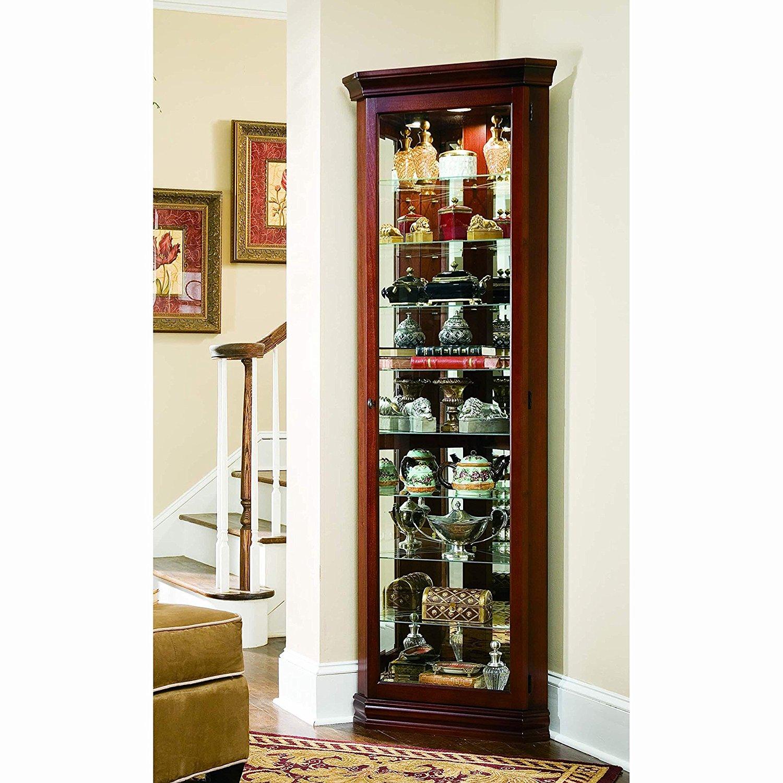 Sofaweb.com Victorian Cherry Corner Curio Cabinet