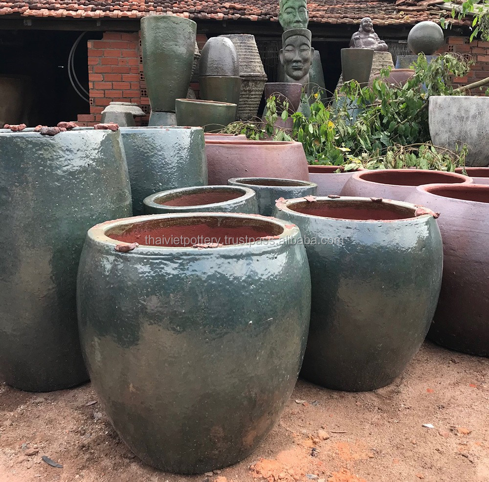 Large Glazed Ceramic Garden Pots Buy Large Glazed Ceramic Garden Pots Large Flower Pots Wholesale Large Pots For Planting Trees Product On Alibaba Com