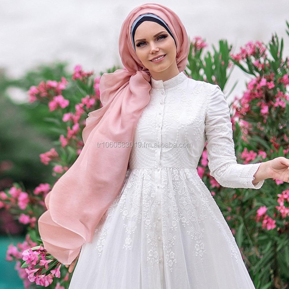 Muslima Wear Pure Cotton Embroidery Dress Lily Islamic Clothing - Buy  Modest Clothing,Hijab Style Dress,Abaya Product on Alibaba com