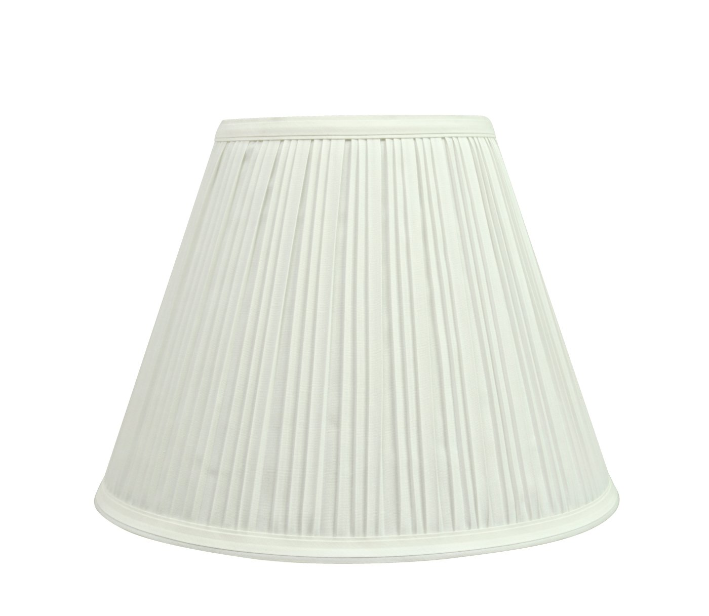 """Aspen Creative 59101 Transitional Pleated Empire Shape Uno Construction Lamp Shade 10"""" Wide, 5"""" x 10"""" x 8"""", Off White"""