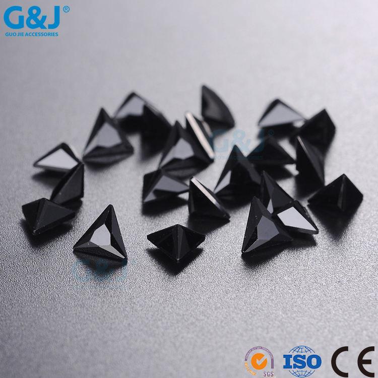 guojie brand craftwork omaments chaton triangle Shape rhinestone Garments Accessary Crystal Zirconia