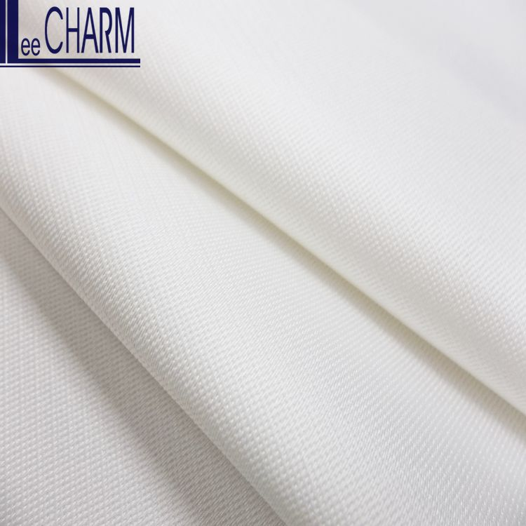 LCL125 Thin Ivory Polyester Micro Bridal Satin Fabric