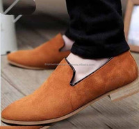 NEW HANDMADE TAN SUEDE LEATHER LOAFER WEDDING SHOES MEN