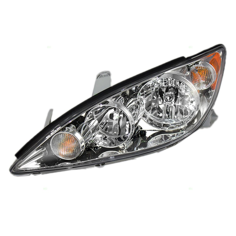 Get Quotations Drivers Headlight Headlamp With Chrome Trim Replacement For Toyota Camry 8115006180
