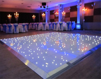 Wedding decorations light up interactive 3D dj led starlit dance floor for sale