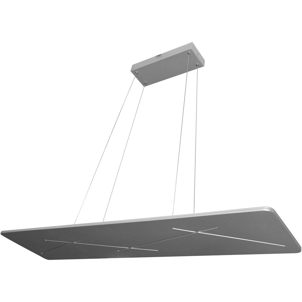 "VONN VMC31400AL Modern Linear Led Chandelier Lighting With Adjustable Hanging Light, 45.31"" x 11.81"" x 7.87"", Silver"