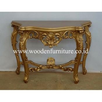 Console Table Mahogany Wood