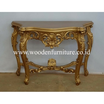 Golden Hall Table Antique Reproduction Console Table Mahogany Wood Painted  French Provincial Living Room Home Furniture